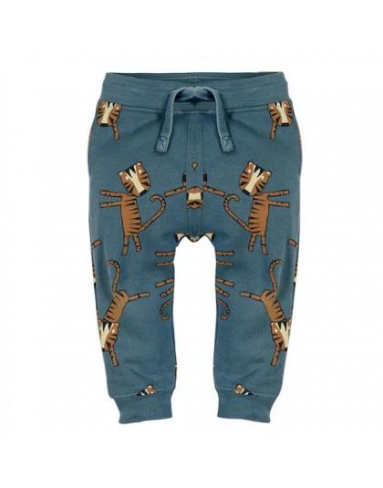 Little maven baby boy spodnie dziecięca dzianina bawełniana stretch toddler boy animal spodnie z nadrukiem dinozaura 11031