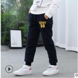 Chłopcy plus aksamitne spodnie dziecięce spodnie sportowe zimowe 2019 nowy duży chłopiec chłopiec grube ciepłe do noszenia na ze