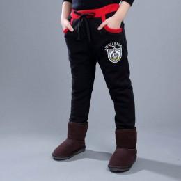 Nowy 2019 dzieci odzież chłopięce spodnie zimowe z polaru ciepłe długie spodnie dla chłopców pogrubienie spodnie ubrania dla dzi