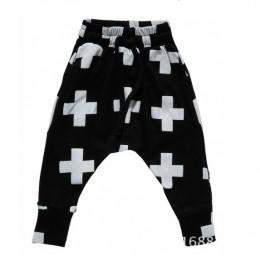 Gorąca sprzedaż size90 ~ 140 dziecko dzieci bawełna odzież dzieci harem spodnie dla chłopców spodnie dziewczyny spodnie krzyż mo