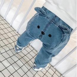 Dziecięce nowonarodzone chłopięce spodnie haremowe spodnie legginsy niedźwiedź dna