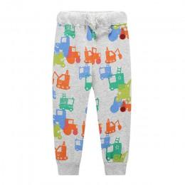 Skoki nowe chłopięce spodnie dziecięce spodnie haremowe jesienne grube zwierzęce dinozaury bawełniana motyw samochodu spodnie sp