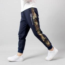 Spodnie z nadrukiem chłopca litery dla chłopców z motywem sportowym spodnie wiosenne spodnie dresowe dla chłopców jesienne nasto