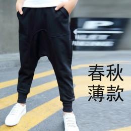 Chłopięce spodnie bawełniane długi Casual Harem spodnie chłopięce spodnie szkolne jesienne zimowe dorywczo spodnie sportowe dla