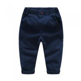 Spodnie chłopięce 2020 dziecięce wiosenne jesienne ubrania spodnie dziecięce dla chłopców spodnie niebieskie khaqi tkane zielony