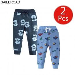 SAILEROAD 2 sztuk spodnie dla dzieci spodnie z nadrukiem 2019 chłopcy spodnie dresowe pełnej długości wiosna dresowe dla dzieci
