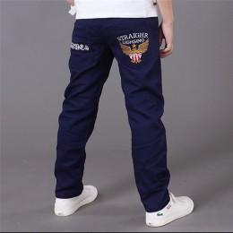 Jesienne chłopięce spodnie dla chłopców 2018 dorywczo bawełniane elastyczne spodnie w pasie ołówkowe spodnie dziecięce odzież dz