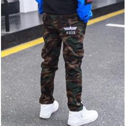 Kamuflaż chłopięce spodnie chłopięce spodnie Casual Cotton Print Mid w pasie Harem spodnie dla dzieci chłopiec spodnie dla dziec