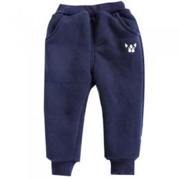Chłopięce spodnie zimowe modne spodnie bawełniane noworodka Plus aksamitne pogrubienie dziewczęce ubrania 12 M-4 T bawełniane ci