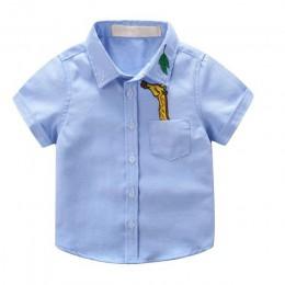 JXYSY dzieci chłopcy koszule 2019 letnie dzieci koszulka dziecięca dla chłopca z krótkim rękawem topy dziecko drukowane chłopcy