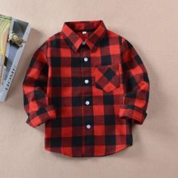 VIDMID chłopcy koszule dla dziewczynek brytyjski pled dziecko koszule dzieci bluzka szkolna czerwone topy ubrania dla dzieci dzi
