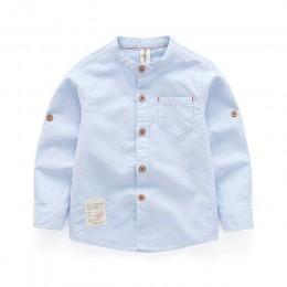 Chłopięce koszule 2019 wiosenny i jesienny nowy bluzka szkolna z długim rękawem ubranka dla dzieci białe koszule dla maluchów ch
