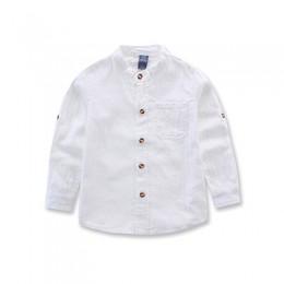 Wysokiej jakości w nowym stylu 2019 dzieci chłopców koszule styl angielski 100% bawełna stałe pełne koszule odzież dla dzieci ch