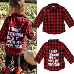 Maluch dzieci dziecko chłopcy dziewczyna koszula w kratę koszula z długim rękawem koszula w kratę