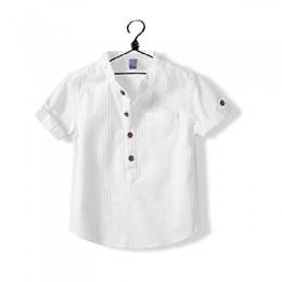 Nowa koszula 2018 dla chłopców letnia odzież dziecięca biała bluzka dla chłopca 2-3-4 lata chłopięca koszula odzież codzienna dl