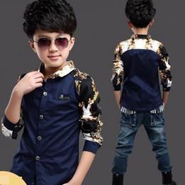Dziecko dzieci drukuj bluzki jesień chłopcy koszule z długim rękawem 2020 New Arrival moda gorąca sprzedaż bluzki bluzka powrót