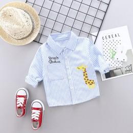 Wiosna jesień dzieci koszula w kratę bawełniane bluzki z długim rękawem koszule na co dzień dzieci odzież dla 1-4 lat chłopiec k