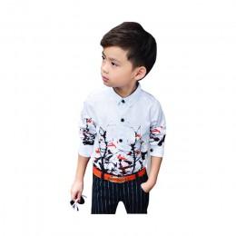 ActhInK nowy 2018 dzieci oddział wzór sukienka kwiatowa koszule chłopięce top markowy jakości dzieci wiosna formalne koszule ślu