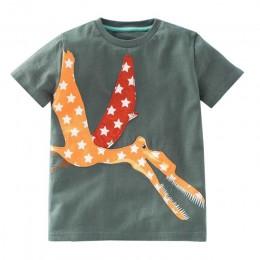Telotuny chłopcy odzież 100% bawełna maluch dzieci Boys Baby dziewczyny ubrania z krótkim rękawem kreskówkowe topy koszula Blous