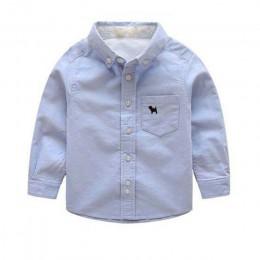 JXYSY dzieci chłopcy koszule bawełniane stałe dzieci koszule odzież dla 2-11 lat nosić Baby Boy bluzka maluch chłopiec koszule u