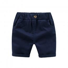 Spodnie dla dzieci letnie spodnie dla dzieci dla chłopca spodenki luźne rozmiar90 ~ 130 w jednolitym cukierkowym niebieskim biał