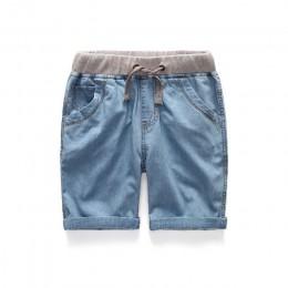 Chłopcy letnie dżinsy szorty dzieci Cowboy szorty bawełniane krótkie spodnie 2018 na co dzień dziecko chłopcy spodnie 3-12 lat u