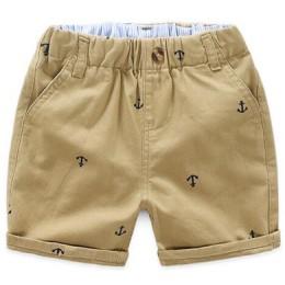 Letnie chłopięce spodenki sportowe dziecięce bawełniane spodnie z elastyczną gumką w pasie maluch dzieci kolano długość spodnie