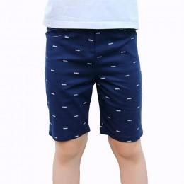 Chłopcy dorywczo spodnie chłopięce bawełniane szorty do kolan dziecięce spodnie plażowe dziecięce spodnie sportowe 3-15T dziecię