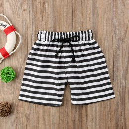 Fajne dziecięce chłopięce kwiatowy nadruk w paski spodenki na co dzień spodnie plażowe spodnie sportowe letnie krótkie 1-6T