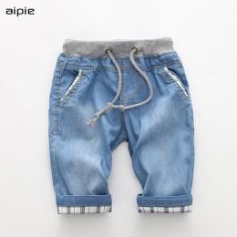 Nowe spodenki chłopięce Casual Fashion solidna kolorowa bawełniana 100% cienki dżins tkanina spodenki dziecięce odzież na 2-7 la