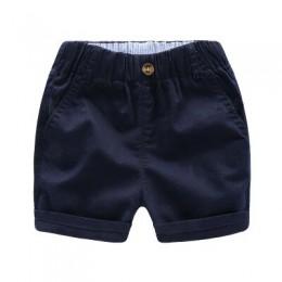 Dla dzieci spodnie dla dzieci letnie spodnie dla niemowląt chłopcy dziewczęta luźne spodenki size90 ~ 140 stałe granatowy niebie