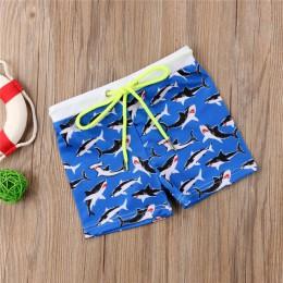 Gorące letnie maluch dzieci Boys Baby strój kąpielowy Shark Stars nadruk w paski spodenki spodnie kąpielówki stroje kąpielowe st
