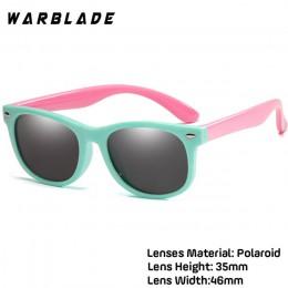 WarBlade nowe dzieci spolaryzowane okulary TR90 chłopcy dziewczęta okulary silikonowe okulary ochronne prezent dla dzieci dzieck