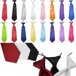 Moda szkoła chłopcy dzieci dzieci dziecko ślub jednolity kolor elastyczny krawat krawat chłopiec krawat dla ślub krawat krawat p