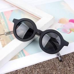 Iboode 2020 moda okulary przeciwsłoneczne dla dzieci okrągła oprawka chłopcy dziewczęta okulary dzieci dziecko okulary UV400 odc