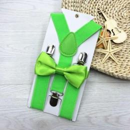 2019 nowe szelki dla dzieci z muszką Bowtie Set dopasowane krawaty stroje 13 kolorów regulowane i elastyczne Hot Suspender Sale