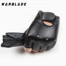 Wysokiej jakości skórzane rękawiczki dla dzieci chłopcy dziewczęta rękawiczki bez palców Chilidren pół mitenki oddychające czarn