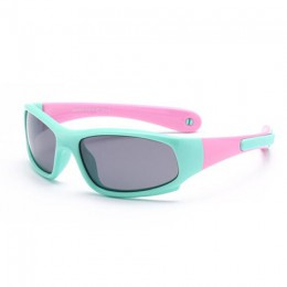 Nie łatwo złamane dla dzieci TR90 spolaryzowane okulary przeciwsłoneczne dla dzieci bezpieczeństwa okulary marki elastyczne guma