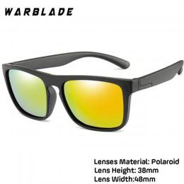 WBL dzieci kwadratowe spolaryzowane okulary dzieci silikonowe bezpieczne TR90 okulary dziewczyny chłopcy UV400 powłoka lustro Ga
