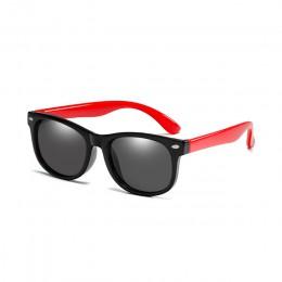 Elastyczne spolaryzowane okulary przeciwsłoneczne dla dzieci dziecko czarne okulary przeciwsłoneczne dla dziewczynek chłopiec ok