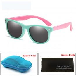 LongKeeper TR90 spolaryzowane okulary przeciwsłoneczne dla dzieci z przypadku dzieci silikonowe okulary ochronne prezent zestaw