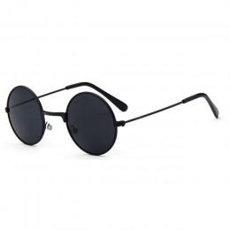 Metalowe czarne okrągłe dziecięce markowe okulary przeciwsłoneczne mała dziewczynka/chłopiec dziecko okulary dla dzieci gogle óc