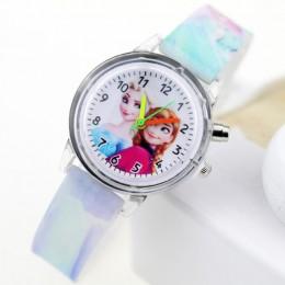 Księżniczka elza dzieci zegarki Spiderman lampa kolorowa źródło zegarek dla chłopców dziewcząt dzieci Party zegar na prezent Wri