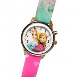 Księżniczka elza dzieci zegarki elektroniczna lampa kolorowa źródło dziecięcy zegarek dziewczyny urodziny dzieci zegar na prezen