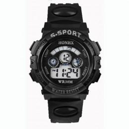 Gorąca sprzedaż wodoodporny zegarek dla dzieci chłopcy dziewczęta LED sportowe cyfrowe zegarki zegarek z gumy silikonowej dzieci