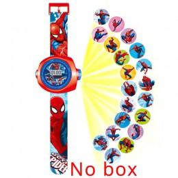 JOYROX Princess Spiderman zegarki dla dzieci projekcja Cartoon wzór cyfrowy dziecięcy zegarek dla chłopców dziewcząt LED zegar z