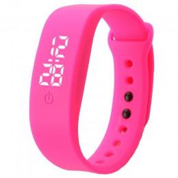 Zegarek dla dzieci przez dolny zegarek na silikonowym pasku elektroniczny zegar cyfrowy na rękę dla chłopców i dziewcząt zegarki