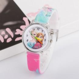 Pincess Elsa zegarki dla dzieci kolorowe latarka elektroniczny zegarek dla dzieci dziewczyny prezent urodzinowy zegar Wrist Drop