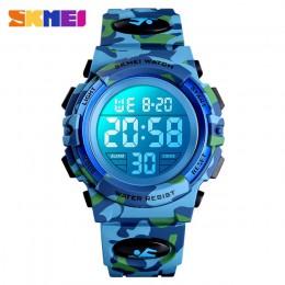 SKMEI Military Kids Sport zegarki 50M wodoodporny elektroniczny zegarek na rękę Stop Watch zegar cyfrowy zegarek dla dzieci dla