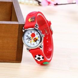 Nowy 3D Cartoon moda silikonowy piłka nożna dzieci oglądaj dzieci dziewczyny chłopcy studenci zegarki kwarcowe relogio kol saati